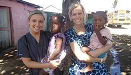 GMercyU students provide healthcare to children in the Domincan Republic